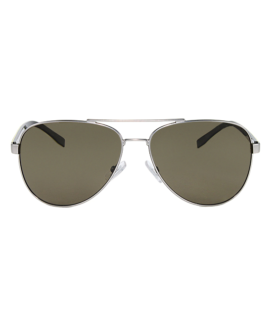 d59c2b4461 HUGO BOSS Matte Ruthenium Khaki   Brown Polarized Aviator Sunglasses ...