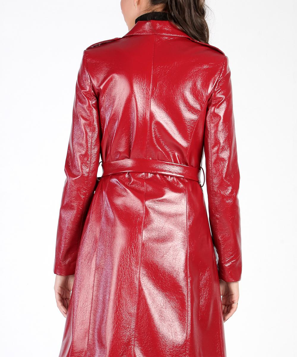 By Coat Carla Trench Zulily Rozarancio Belted Red OdCCnw8q 34ad57b1df06
