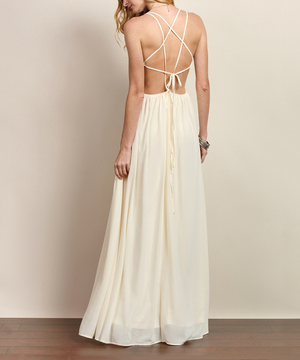 db5e68ddd8f6 love this product Ivory Embroidered V-Neck Maxi Dress