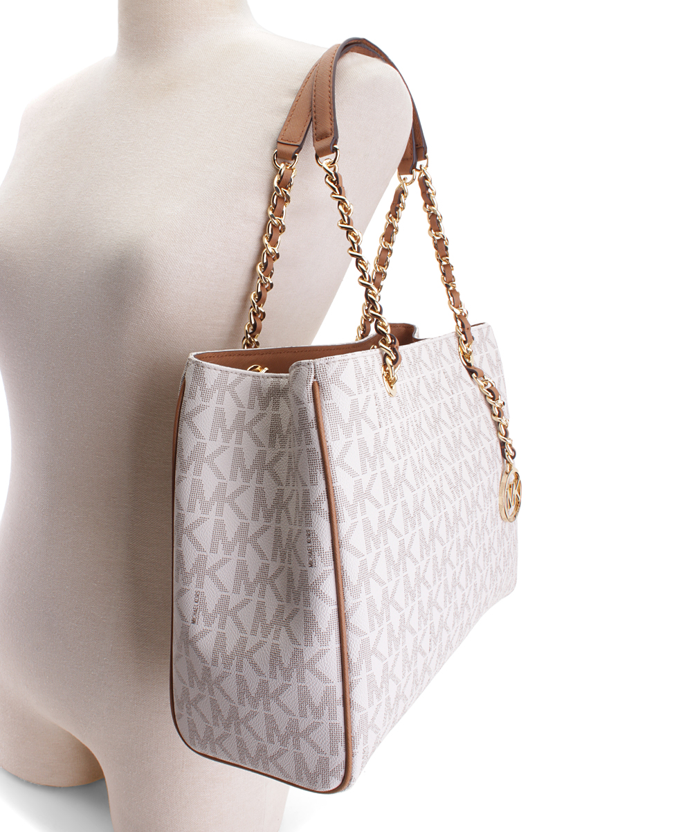 de0390806506 ... Womens VANILLA/ACORN Vanilla & Acorn Signature Saffiano Leather  Susannah Shoulder Bag - Alternate Image ...