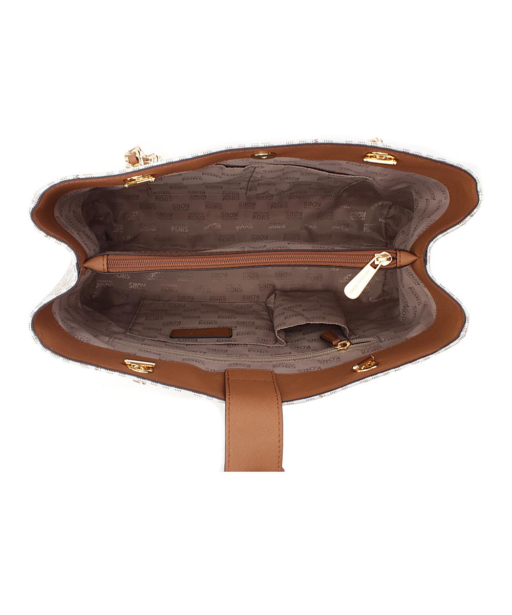 f096c4b11604 ... Womens VANILLA/ACORN Vanilla & Acorn Signature Saffiano Leather  Susannah Shoulder Bag - Alternate Image