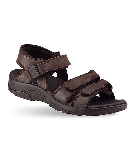 894e6766867 Gravity Defyer Brown Hugh Leather Sandal - Men
