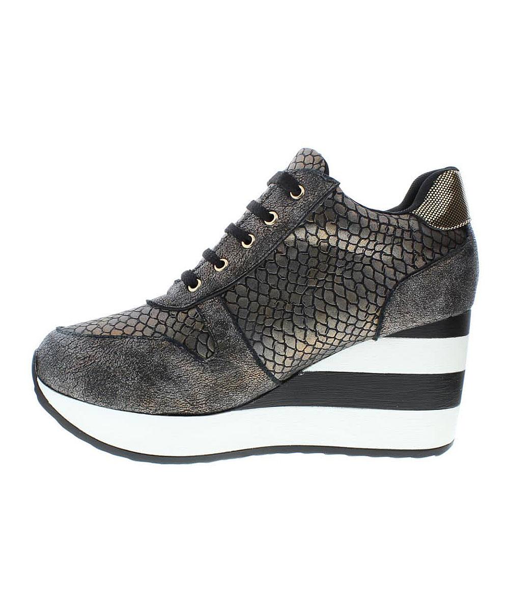ae641b2921a ... Womens BRONZE Bronze   White Snakeskin Platform Sneaker - Alternate  Image 3