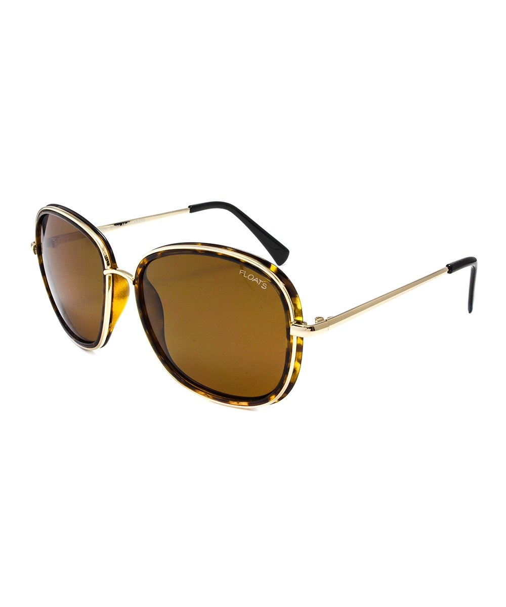 74eda0464f Floats Polarized Gold-Brown Tortoise   Brown Rounded Polarized ...