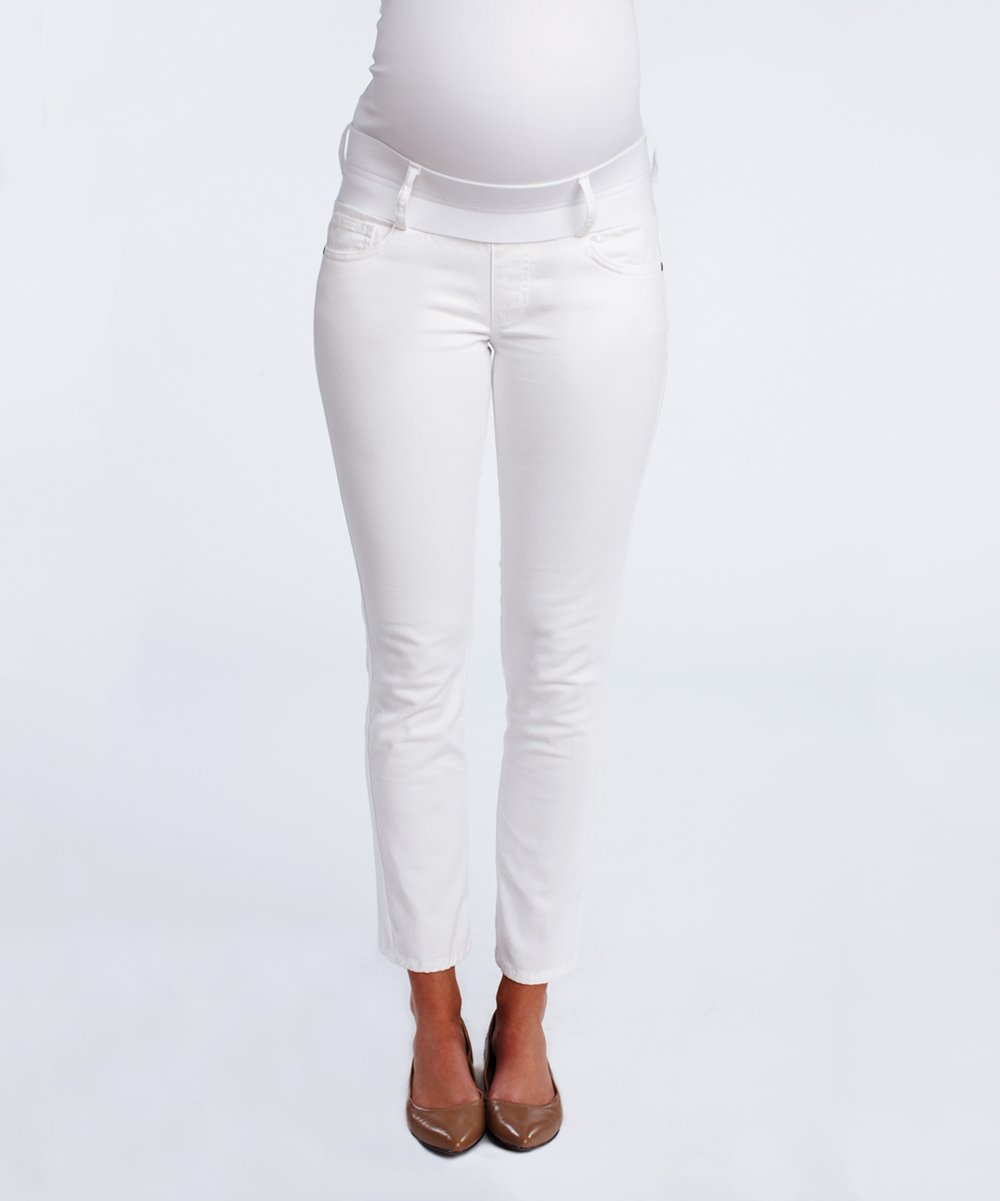 051d3ceadfe87 Maternal America White Skinny Maternity Jeans | Zulily