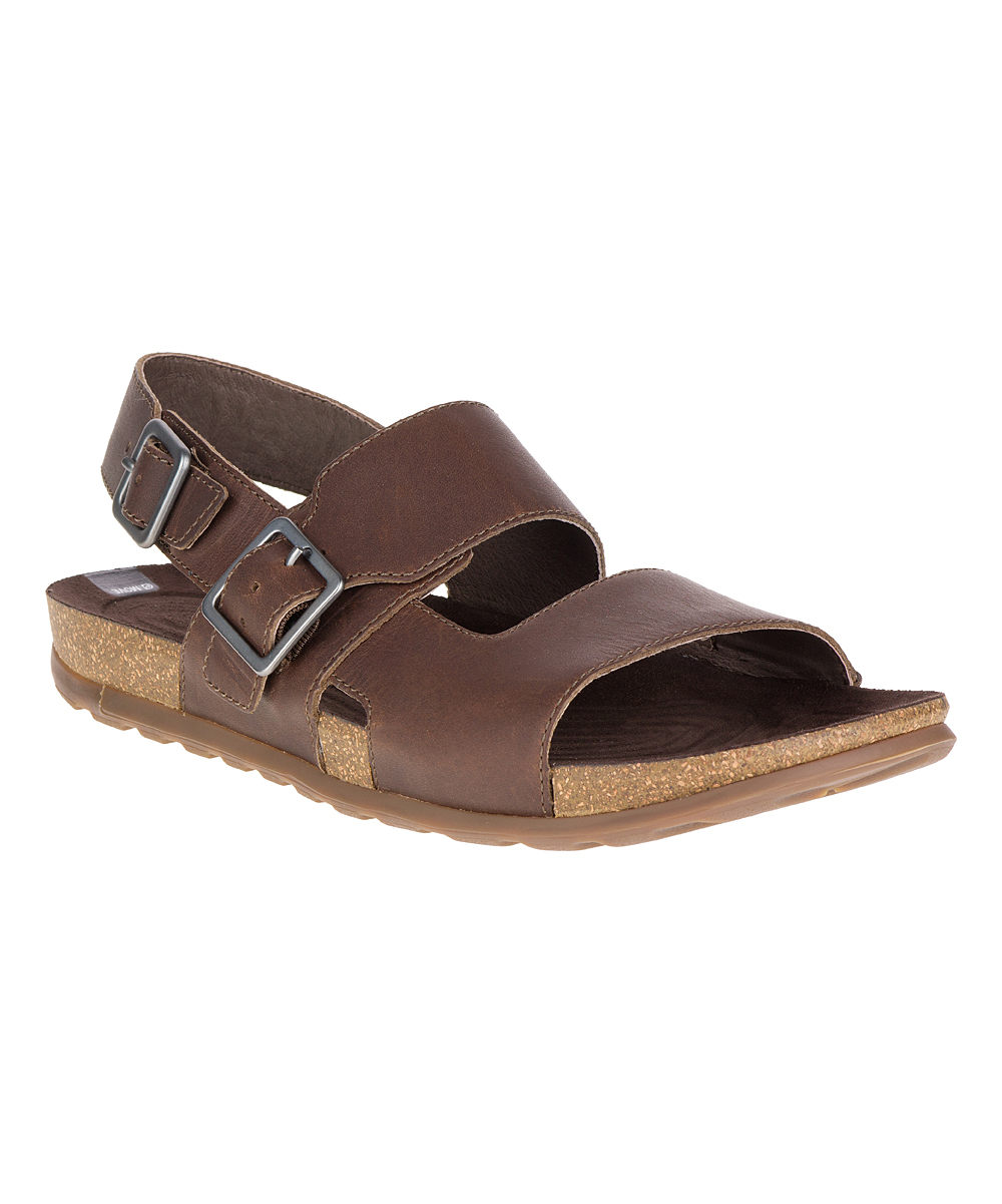 76e4d36d93 Merrell Dark Earth Downtown Backstrap Buckle Leather Sandal
