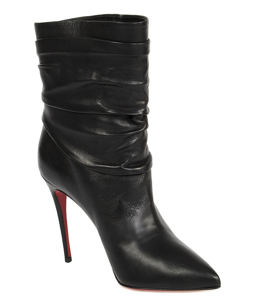 Christian Louboutin Black Ishtar Leather Stiletto Bootie