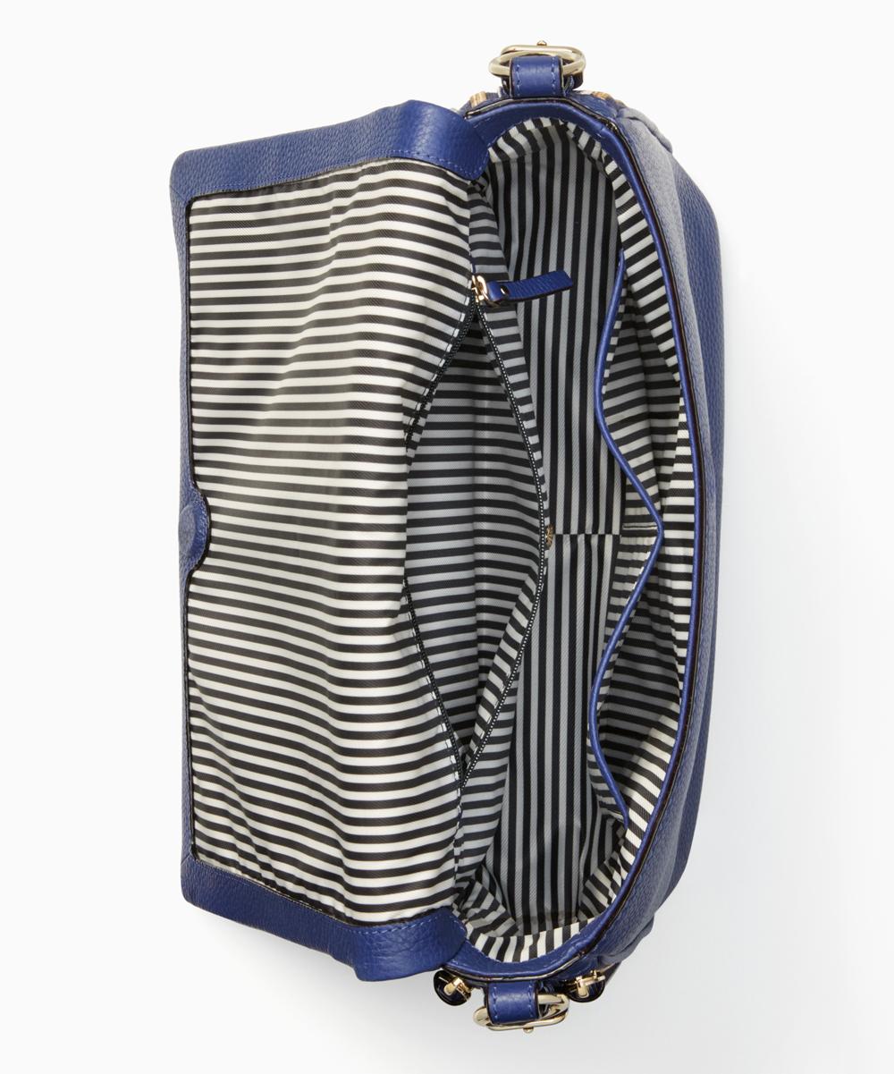 6893f639af4 Kate Spade Asilah Blue Cobble Hill Mayra Leather Crossbody Bag