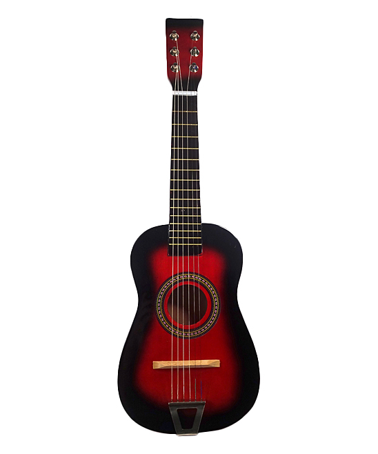 ENV Toys  Toy Guitar  - Red Wooden Kids' Acoustic Guitar