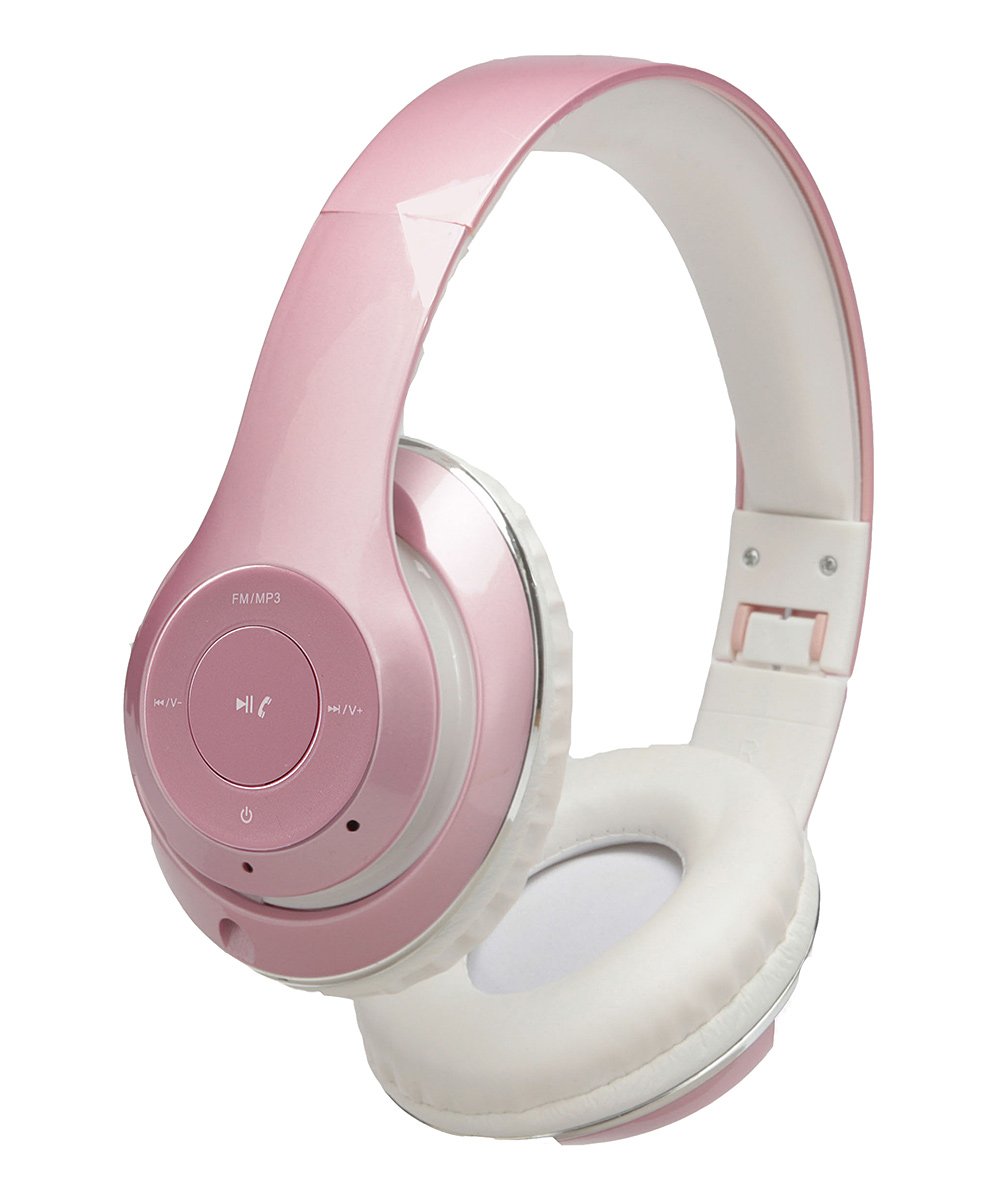 1 Voice  Wired Headphones Rose - Rose Gold Soundwave Bluetooth Headphones