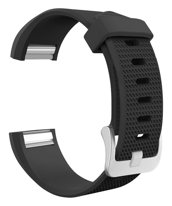 Black Silicone Sport Band for Fitbit Charge 2