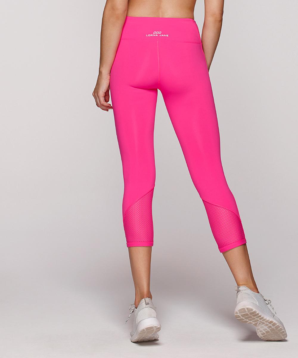 d5408641fcd5ed ... Womens Neon Pink Neon Pink Diva 7/8 Leggings - Alternate Image 2