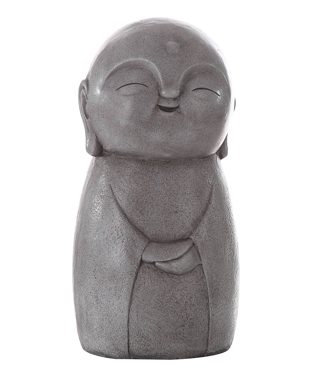 N/A Gray Smiling Jizo Buddha Garden Statue   Alternate Image 1 ...
