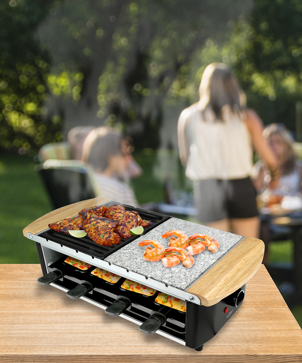 Nutrichef Raclette Grill Two Tier Party Cooktop Zulily