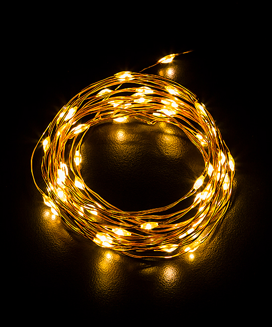 Cypress Home  Indoor Strings  - 60-Bulb LED Copper String Light