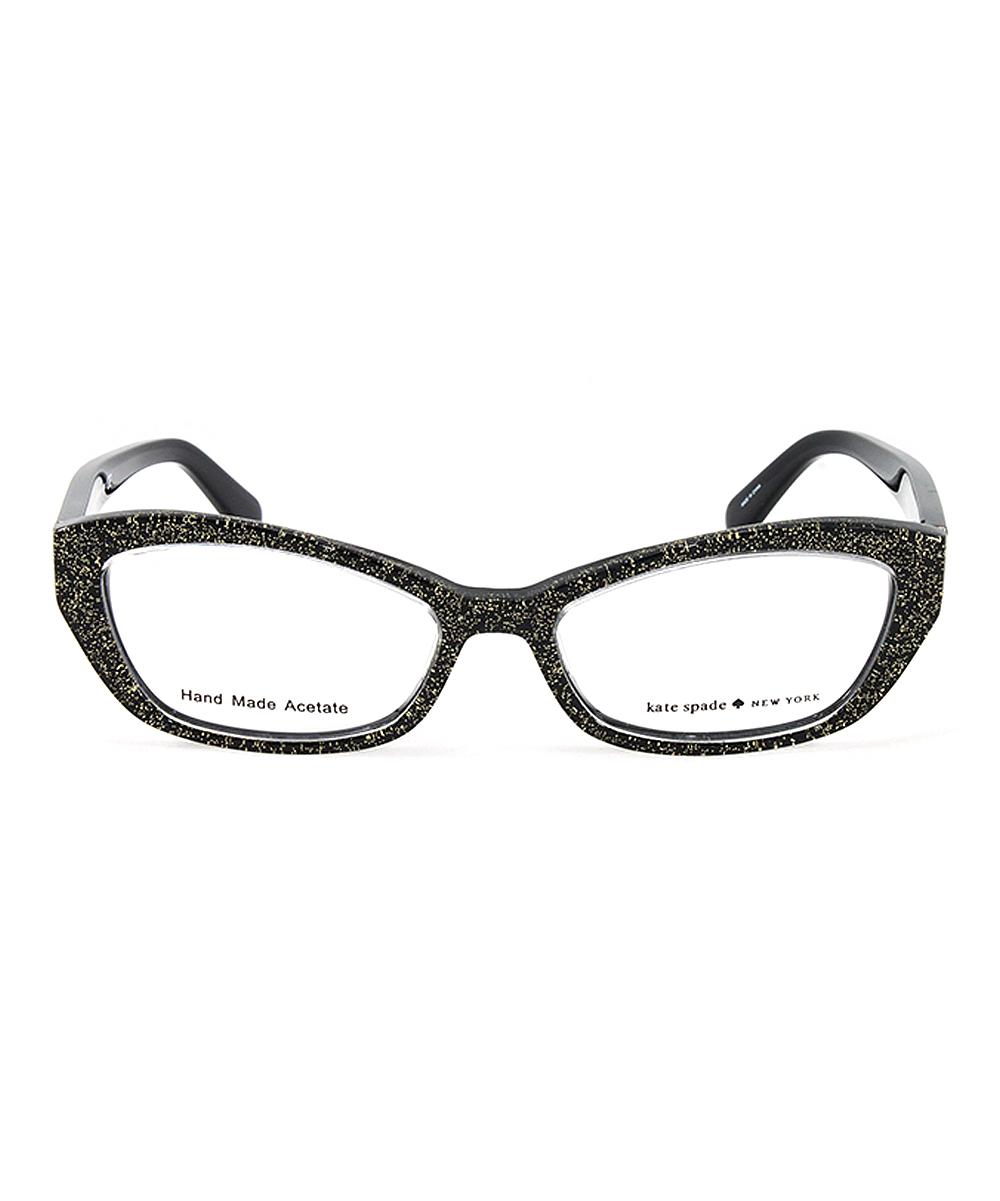b29b82bd31 Kate Spade Black   Gold Glitter Cristi Eyeglasses