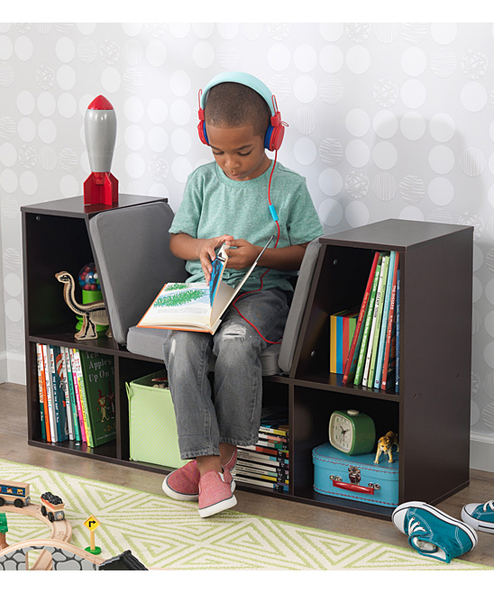 Kidkraft Espresso Bookcase Reading Nook Zulily