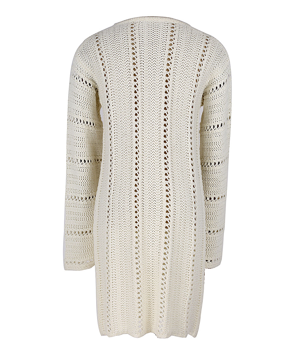 b28020fd410 ... Womens White White Tie-Front V-Neck Sweater Dress - Alternate Image 4  ...