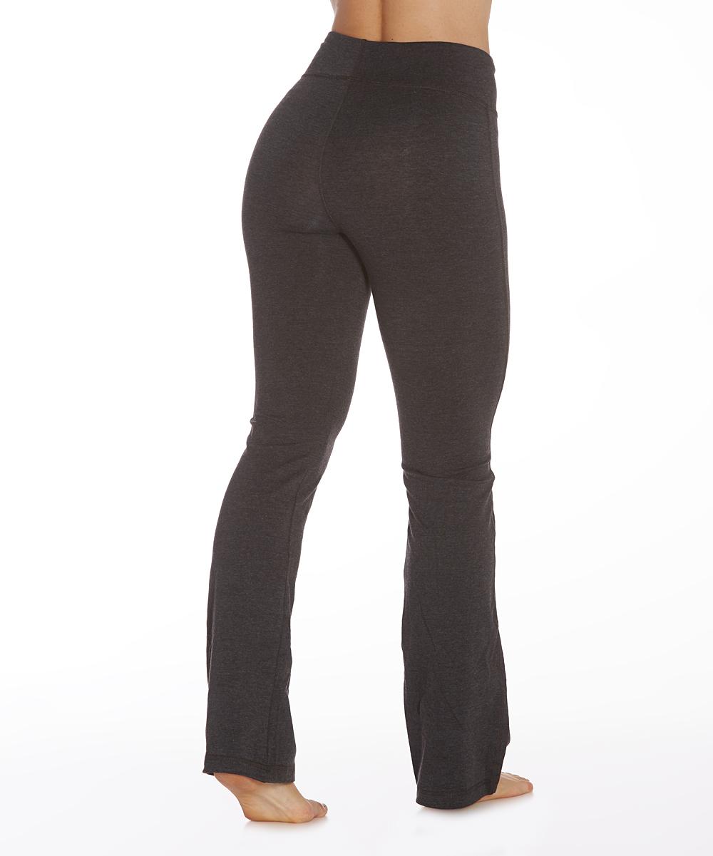 a64ed05709ef4 ... Womens BLACK Heather Charcoal 34   Tummy-Control Shaper Pants -  Alternate ...