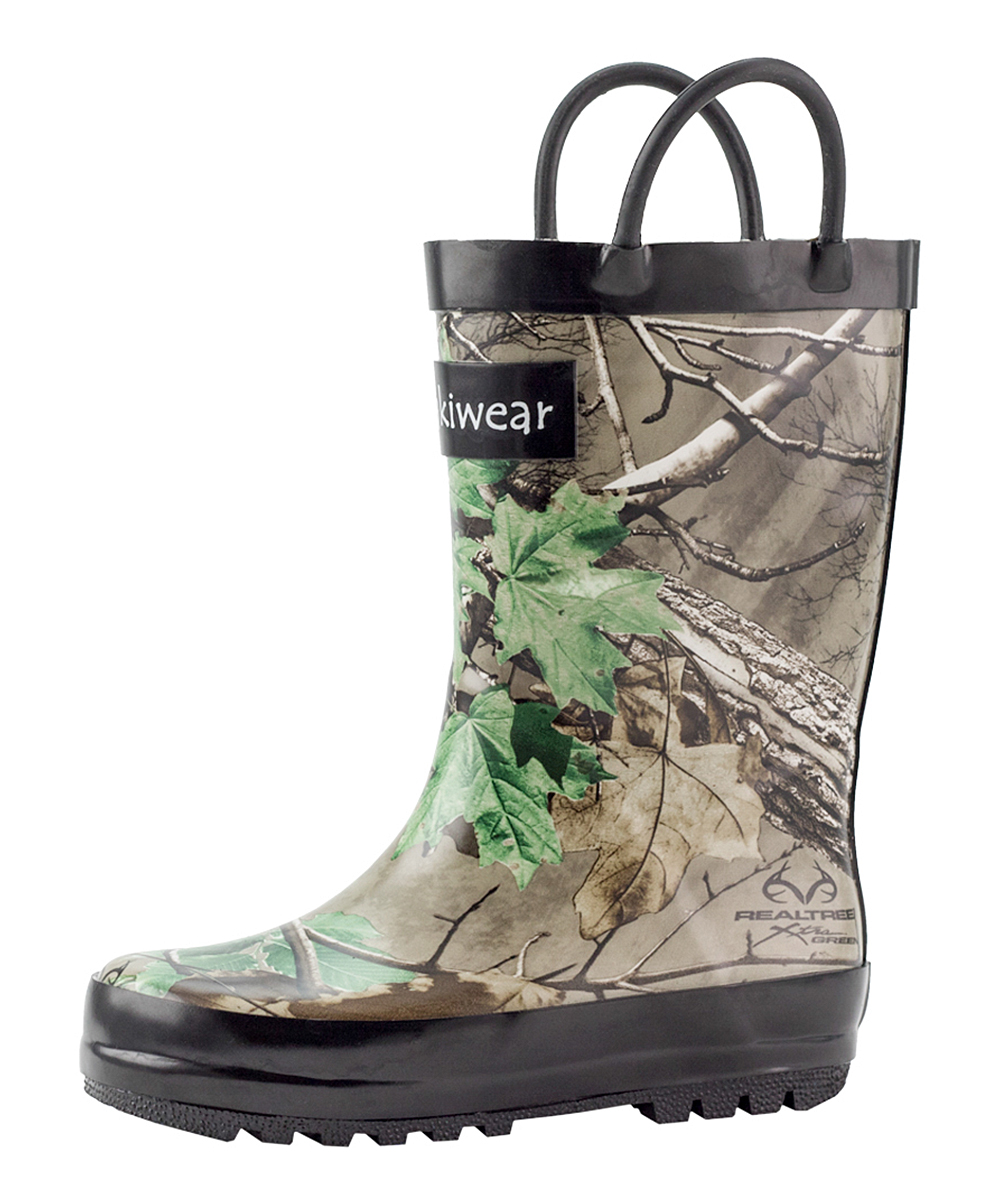 oaki green camo rain boot kids zulily