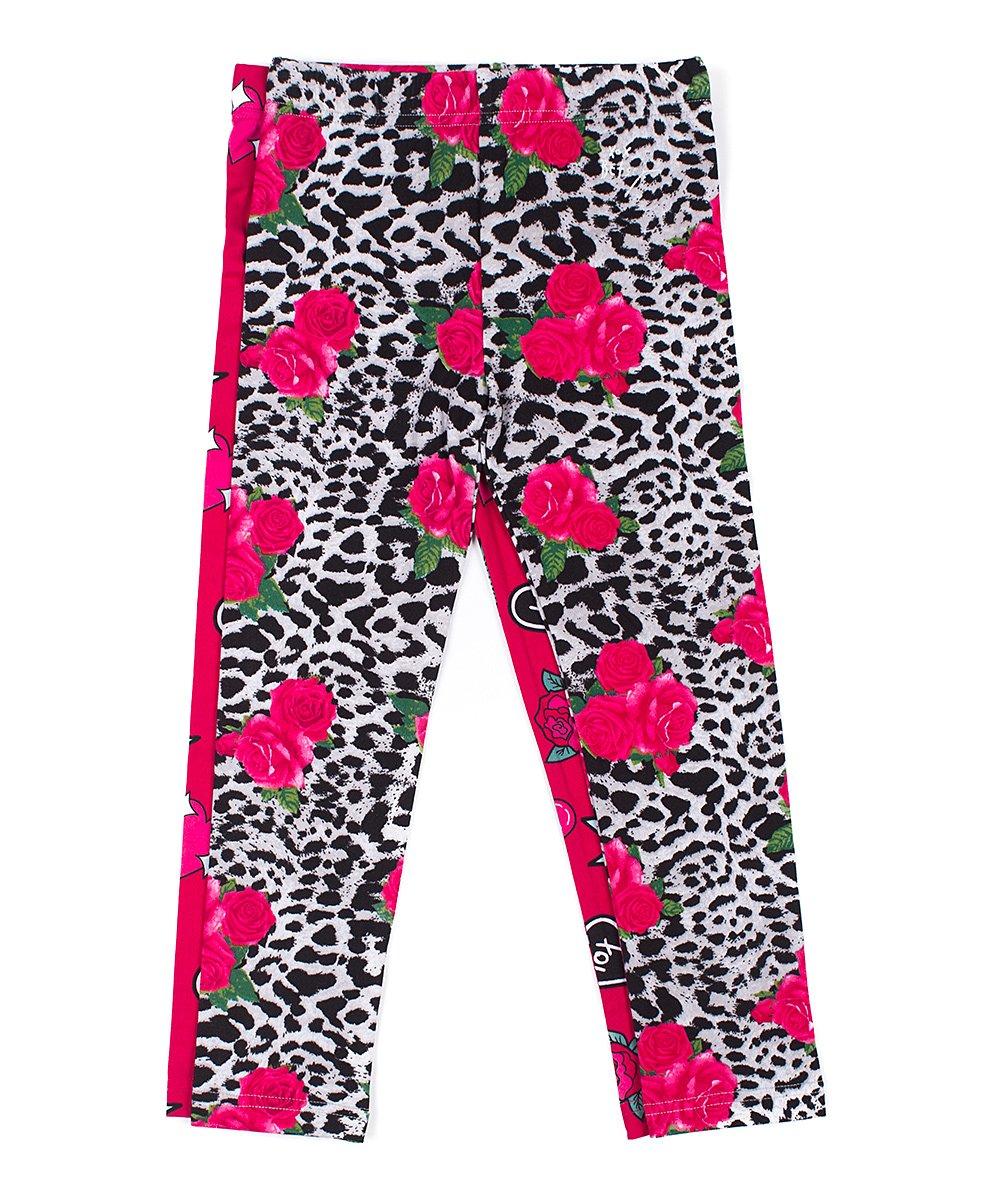 85a6490fb026 Betsey Johnson Kids Leopard Print & Logo Leggings Set - Girls | Zulily