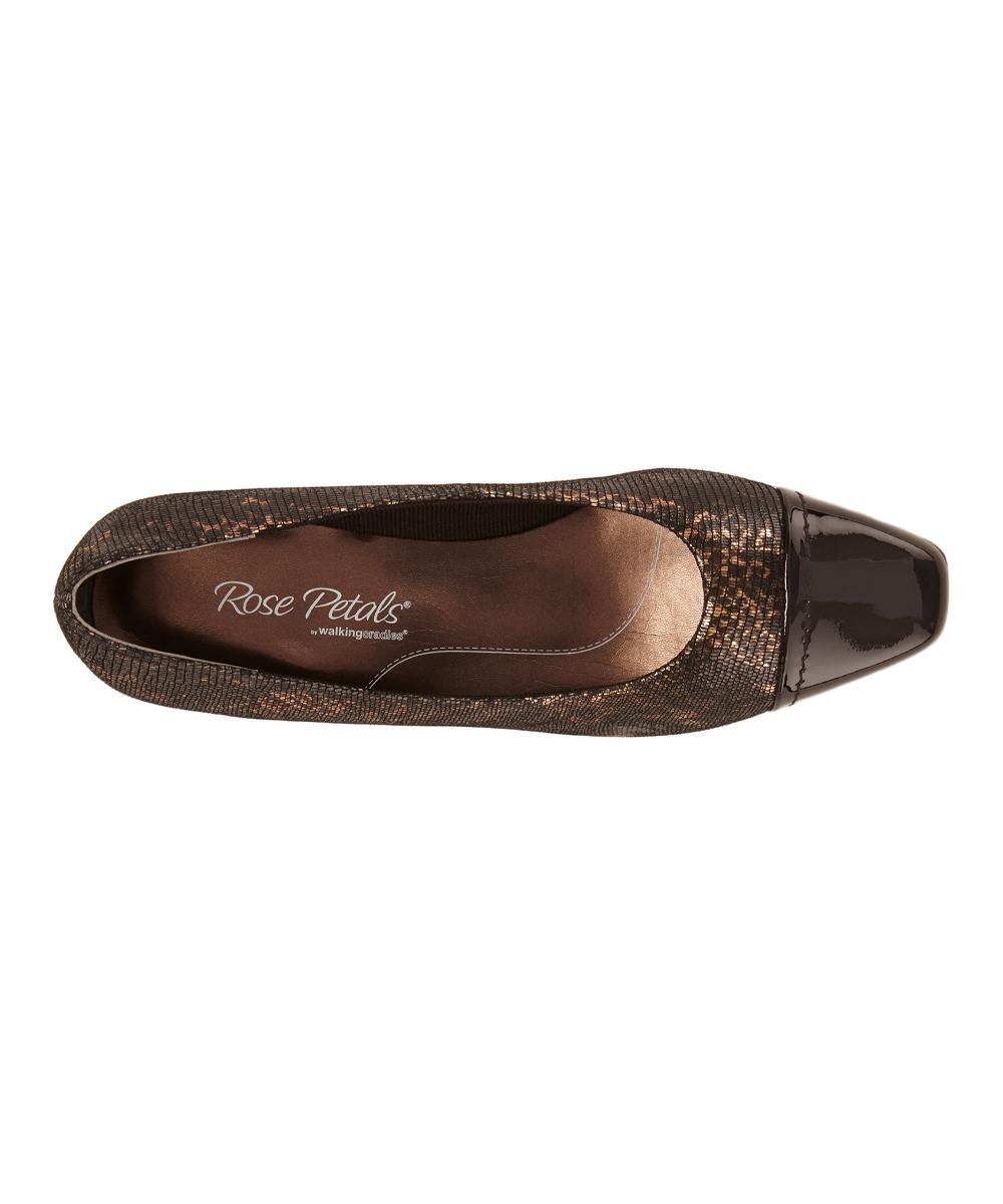 9517bbe12415 ... Womens BLACK BRONZE LIZARD PRINT BLACK PATENT Black   Bronze Race  Leather Pump - Alternate ...