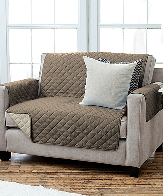 Home Fashion Designs  Indoor Furniture Covers Fossil - Fossil Brown Reversible Quilted Furniture Protector