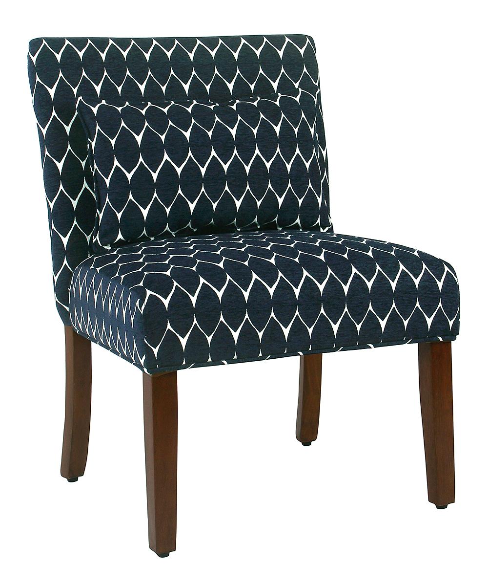 Enjoyable Homepop Navy Geometric Parker Accent Chair Creativecarmelina Interior Chair Design Creativecarmelinacom