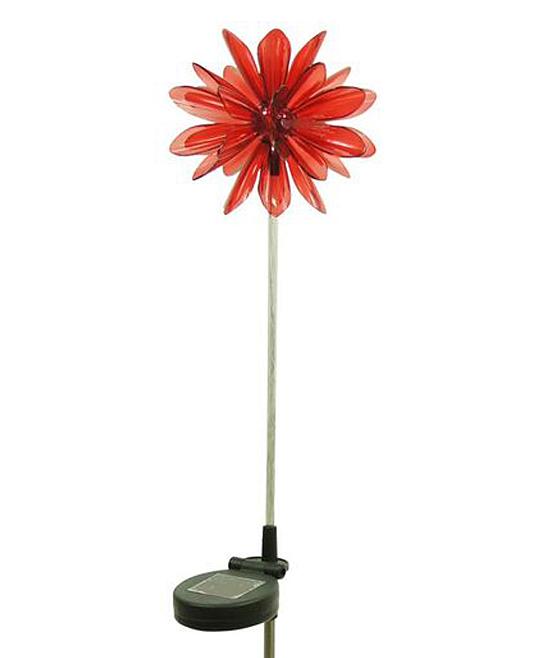 Red Solar Flower Garden Stake