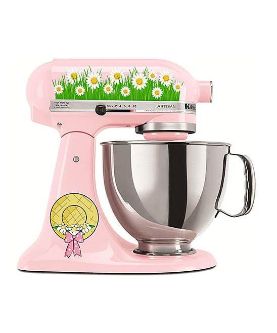 AZ Vinyl Works  Decals  - Field of Daisies Mixer Decal Set Field of Daisies Mixer Decal Set. Show your favorite countertop helper a little bit of love with the addition of floral decals that bring personalized style to the kitchen. Mixer not includedFits 4- and 5-qt. mixersSheet: 8.5'' W x 11'' H x 1'' DPrinted adhesive vinyl