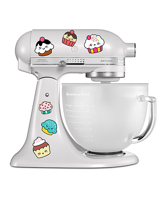 AZ Vinyl Works  Decals  - Cute Cupcakes Mixer Decal Set Cute Cupcakes Mixer Decal Set. Show your favorite countertop helper a little bit of love with the addition of colorful decals that bring personalized style to the kitchen. Mixer not includedFits all mixersSheet: 8.5'' W x 11'' H x 1'' DPrinted adhesive vinyl