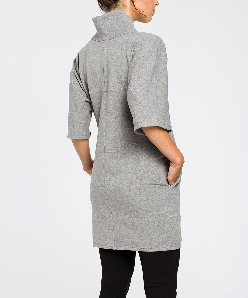 07eb602fb33 love this product Gray High-Collar Pocket Tunic - Women