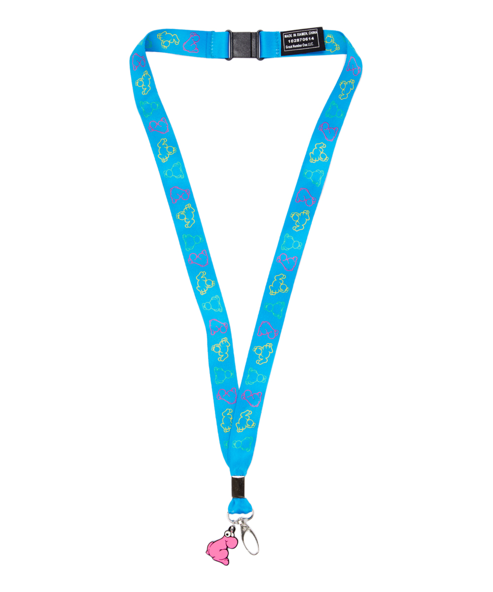 Blue NERDS Character Lanyard Blue NERDS Character Lanyard. This vividly hued lanyard brings these favorite candy characters to life for added instant fun.18  L100% polyesterSpot cleanImported