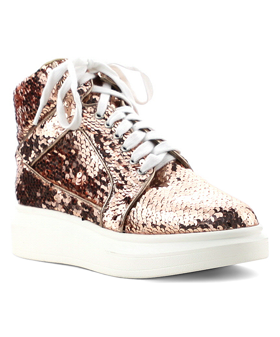 c70649550f Cape Robbin Collection Rose Gold Sequin Forever Sneaker - Women | Zulily