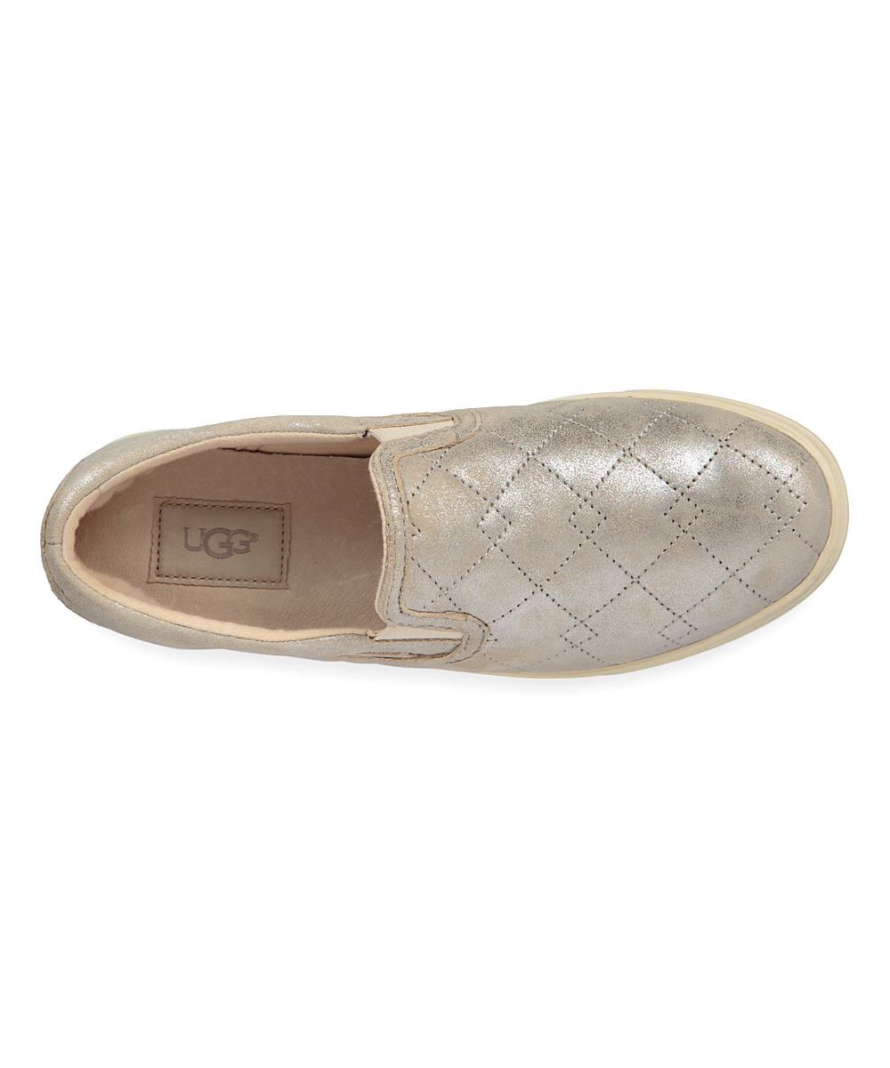 12b516cdd57 UGG® Silver Fierce Deco Quilt Stardust Suede Slip-On Sneaker - Women