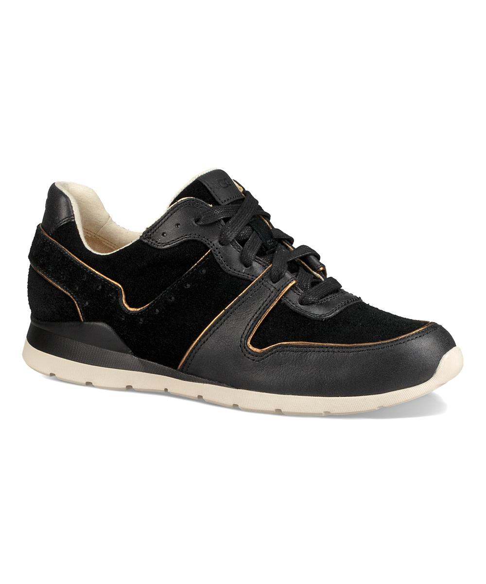 36e1acba43e UGG® Black Deaven Leather & Suede Sneaker - Women