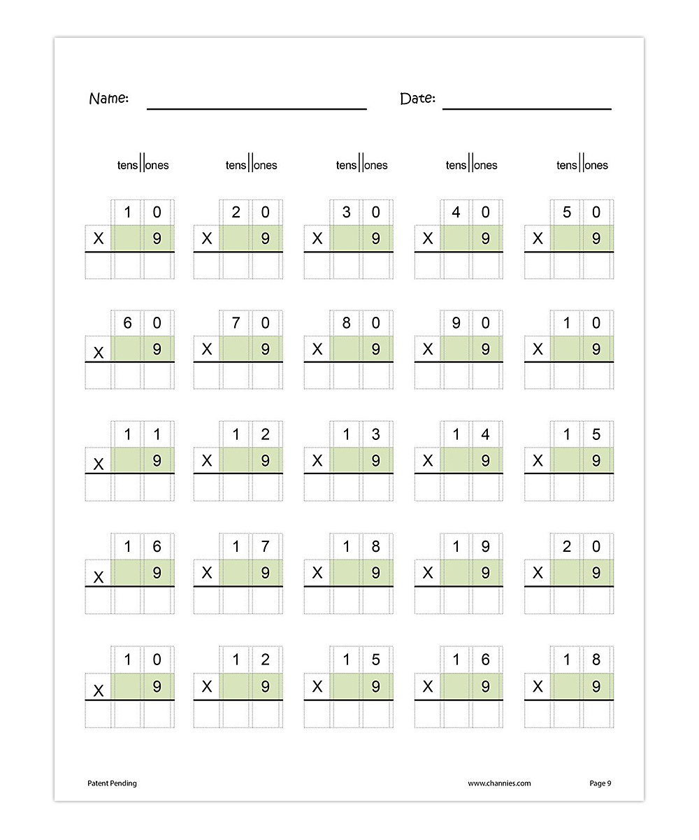 Channie's Grades 3 to 5 One Page A Day Two-Digit Multiplication ...