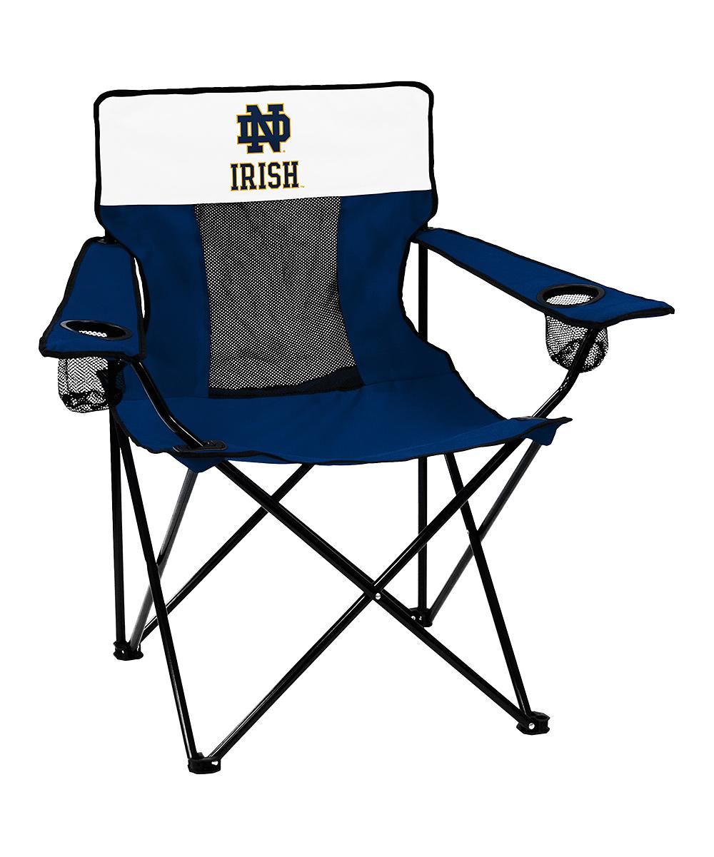 Logo Chair Inc.  Camp Furniture Navy - Notre Dame Fighting Irish Navy/White Elite Chair