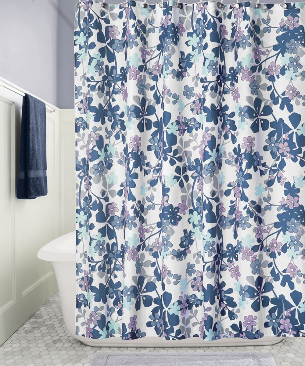 All Gone Lavender Gray Petite Floral Shower Curtain