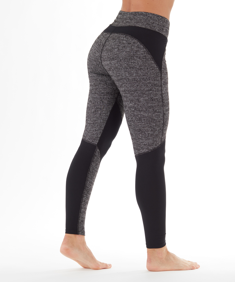1bcdbe73491 ... Womens H. GREY/BLK TRIFECTA JACQ Heather Gray & Black Jordan Cosmos  Leggings -