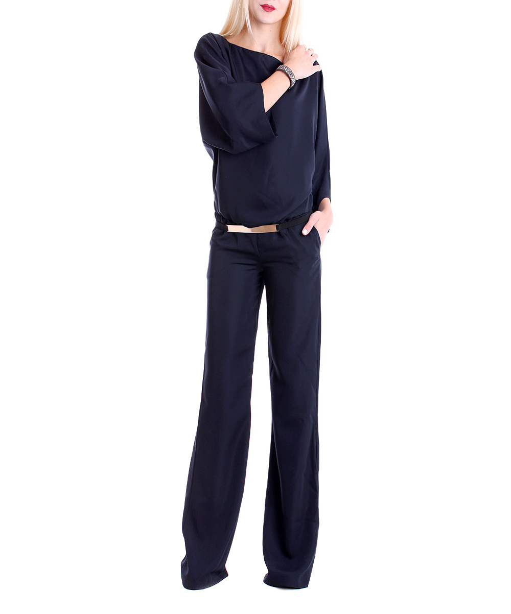 e33e5b9f2fb3a0 love this product Blue Belted Jumpsuit - Women