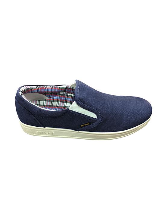 Aerosoft Men's Sneakers Navy - Navy Flash Slip-On Sneaker - Men