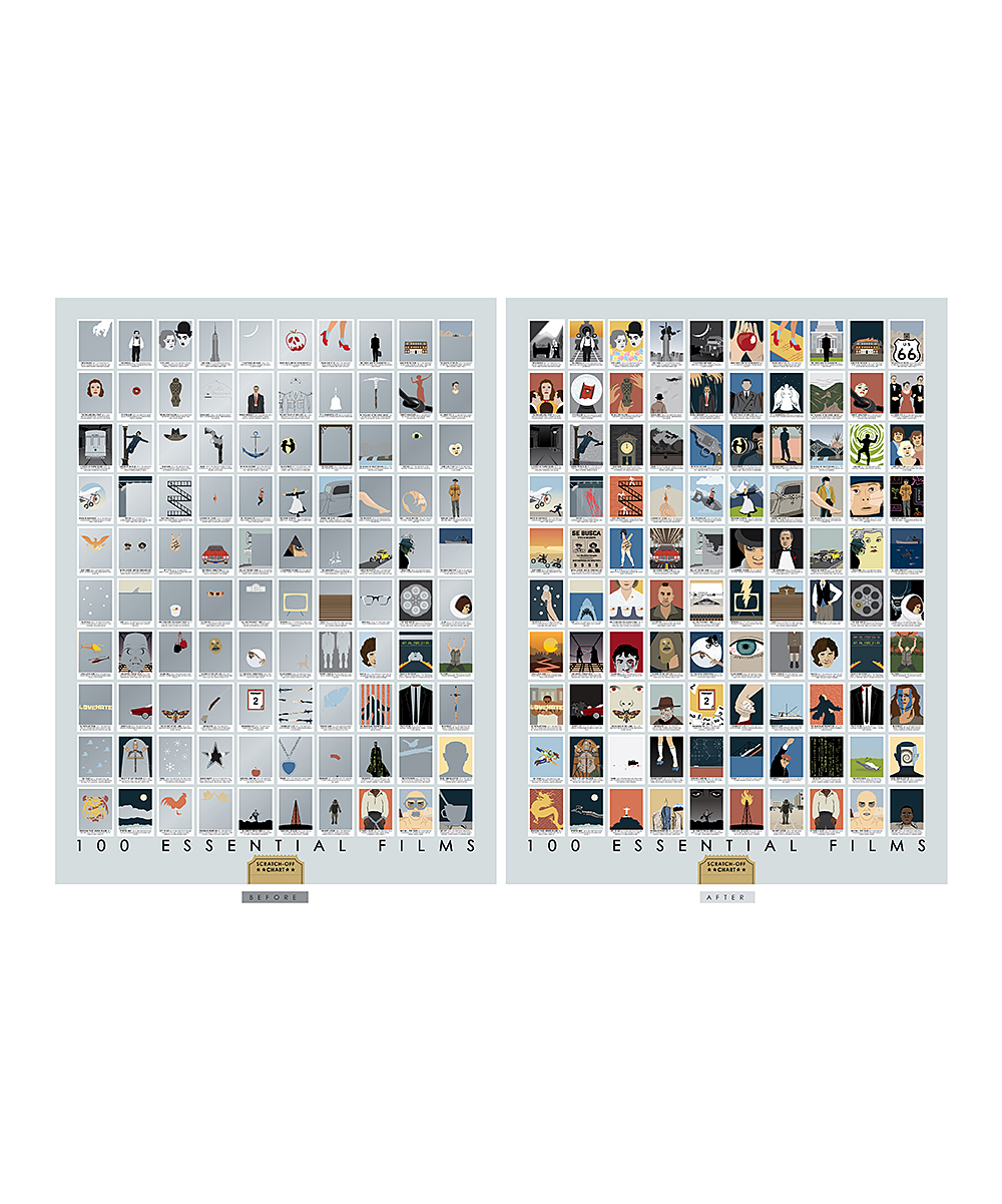 Love This Product 100 Essential Films Scratch Off Chart Print