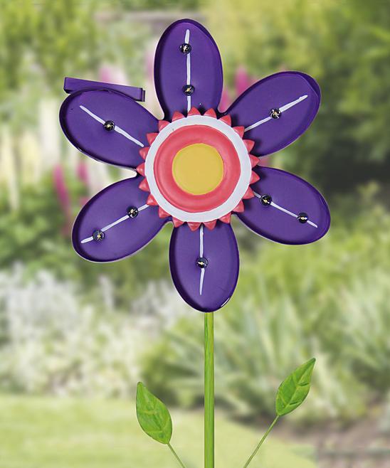 Flower Solar-Powered Garden Stake