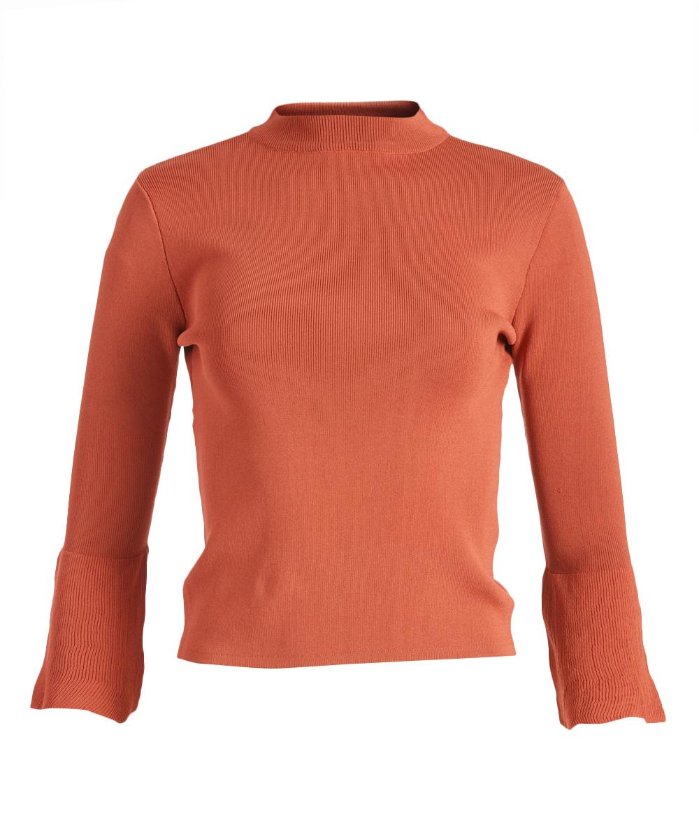 Lucy Paris Burnt Orange Bell Sleeve Sweater Women Zulily