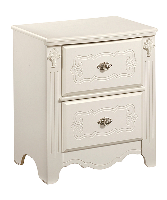 Signature Design by Ashley Furniture White Exquisite Two-Drawer ... 388e7ca8a