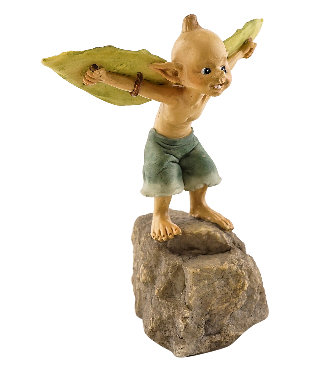 Garden Pixie Ready to Take Off Garden Statue