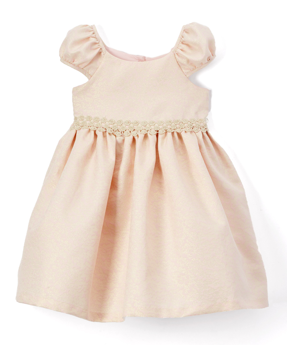 3f2a3c832 Laura Ashley® Pink   Gold Bow-Back Dress   Bloomers - Infant