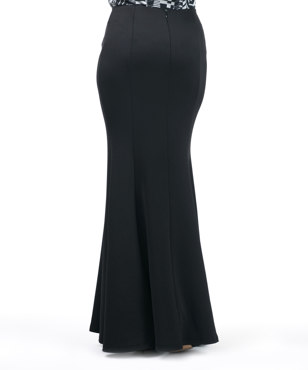 c56e4b04f5 ... Womens BLACK Black Trumpet Maxi Skirt - Alternate Image 4 ...
