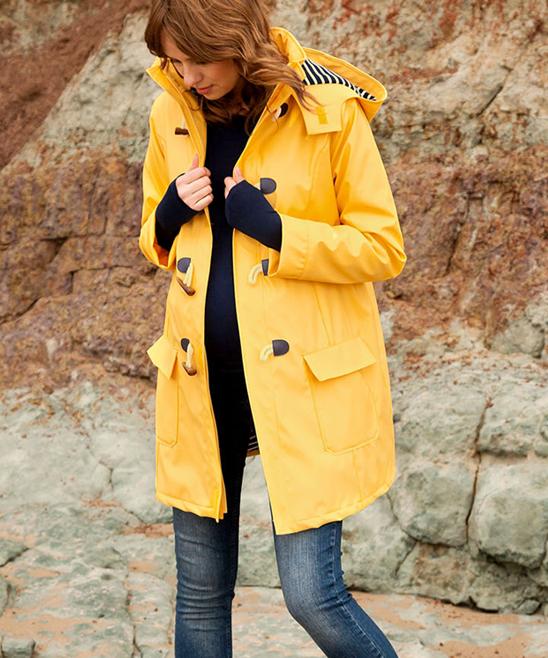 88293c368f57d JoJo Maman Bébé Yellow Maternity Raincoat   Zulily